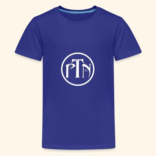 PTN-Music Logo Weiss - Teenager Premium T-Shirt