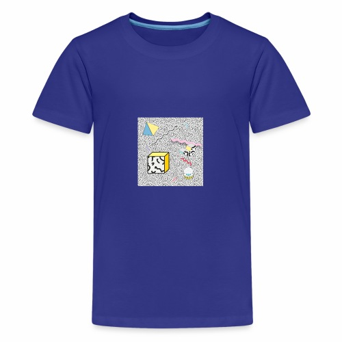 memphis design, Retro, Vintage, 80er Jahre - Teenager Premium T-Shirt