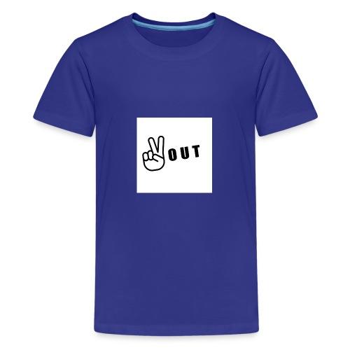 JFFC peace out merch - Teenage Premium T-Shirt