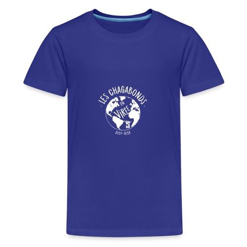 LOGO CHAGABONDS blanc - T-shirt Premium Ado