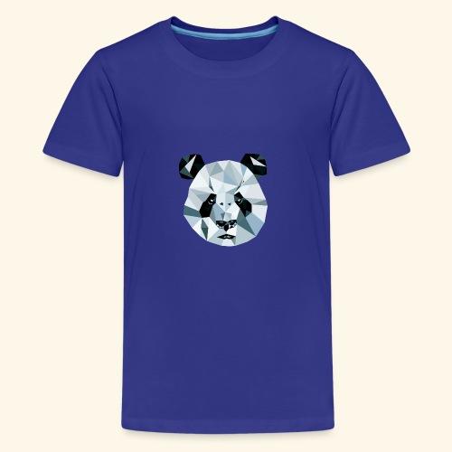 Panda Kopf 3D Polygon Comic - Teenager Premium T-Shirt