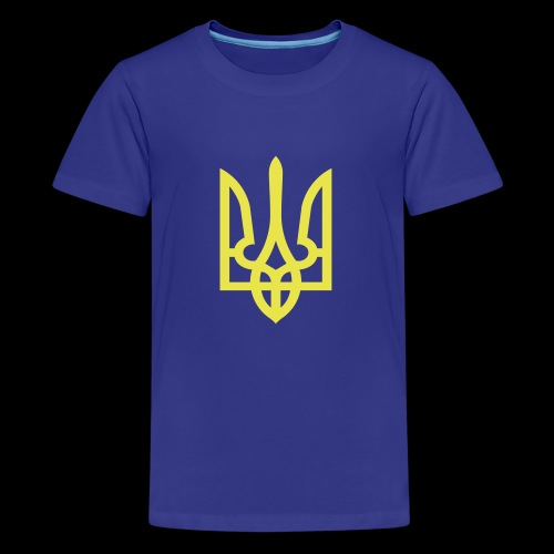 Ukraine Wappen Trident - Teenager Premium T-Shirt