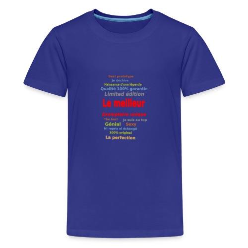 t shirt le meilleur sweat shirt coque et mugs - T-shirt Premium Ado