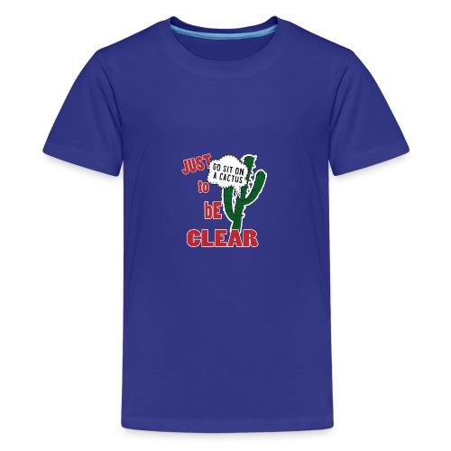 SLOGAN 5 01 - Maglietta Premium per ragazzi
