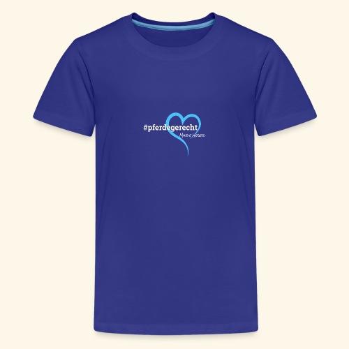 #pferdegerecht weiß Name - Teenager Premium T-Shirt