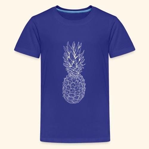 Ananas weiß - Teenager Premium T-Shirt