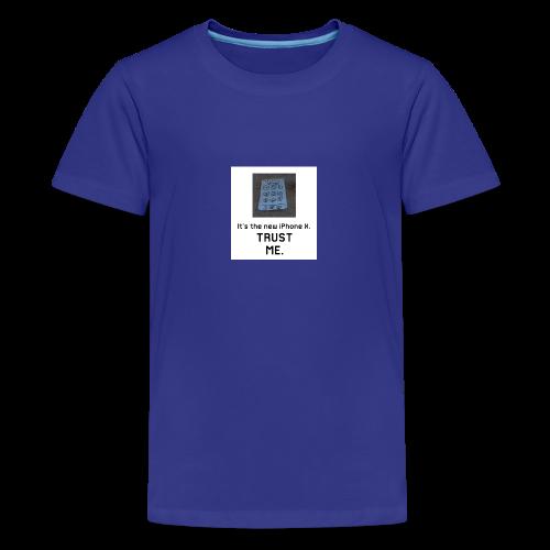 Paper iPhone X - Teenage Premium T-Shirt