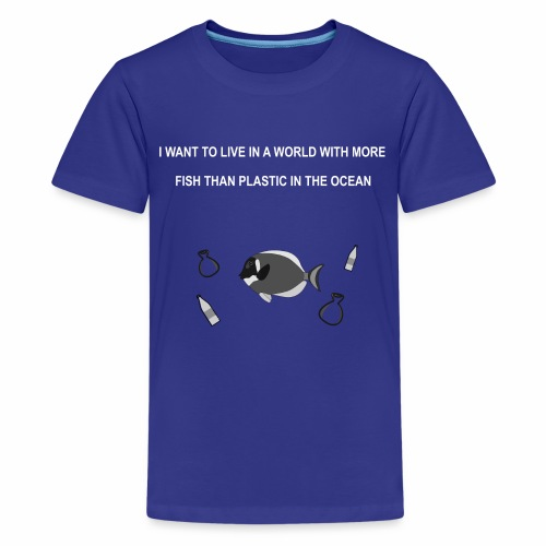 Less plastic - Teenager Premium T-Shirt