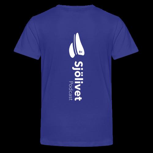 Sjölivet podcast - Vit logotyp - Premium-T-shirt tonåring
