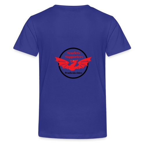 Scarlets Supporters Pembrokeshire logo 2 - Teenage Premium T-Shirt