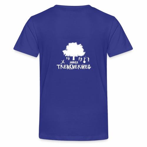 Weißes Logo: nur für grüne Textilien! - Teenager Premium T-Shirt