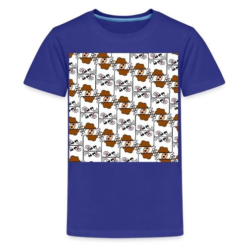 Cow Matrix - Teenage Premium T-Shirt