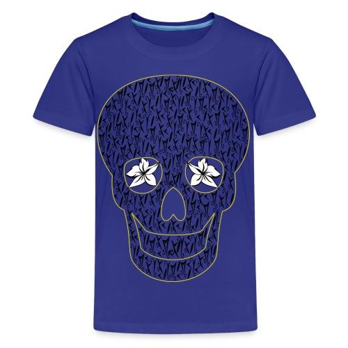 Blue Skull McKoy Transparent - Camiseta premium adolescente