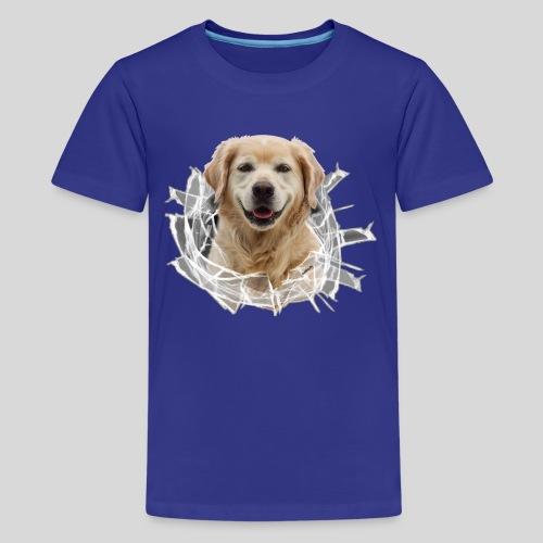 Golden im Glasloch - Teenager Premium T-Shirt