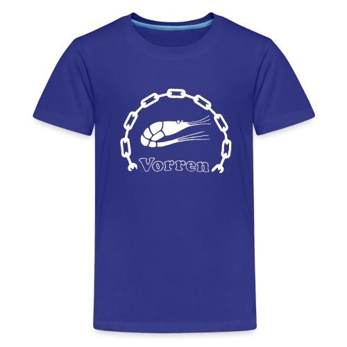 Vorren Logo CLASSIC [White] - Premium-T-shirt tonåring