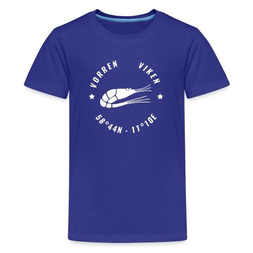 Vorren Logo MODERN [White] - Premium-T-shirt tonåring