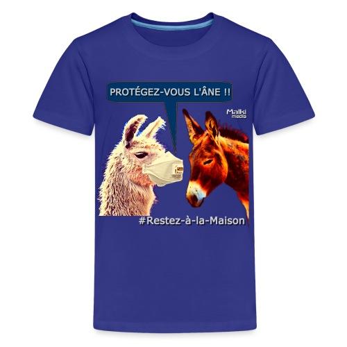 PROTEGEZ-VOUS L'ÂNE !! - Coronavirus - Teenager Premium T-Shirt