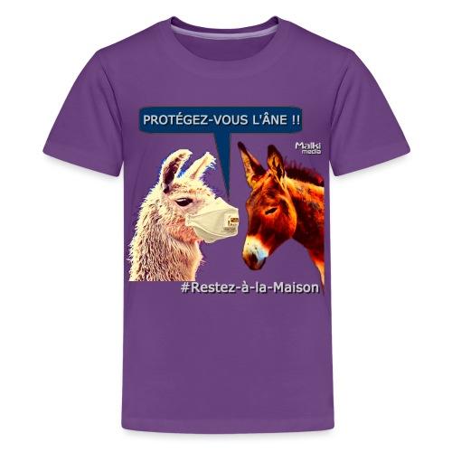 PROTEGEZ-VOUS L'ÂNE !! - Coronavirus - Teenage Premium T-Shirt