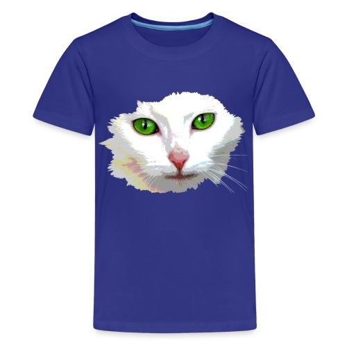 White Cat / weiße Katze - Teenager Premium T-Shirt
