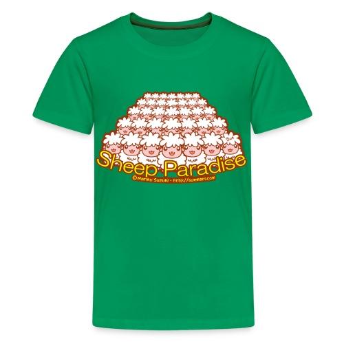 Sheep Paradise - Teenage Premium T-Shirt