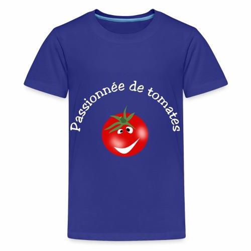 Passionnée de tomates - Teenage Premium T-Shirt