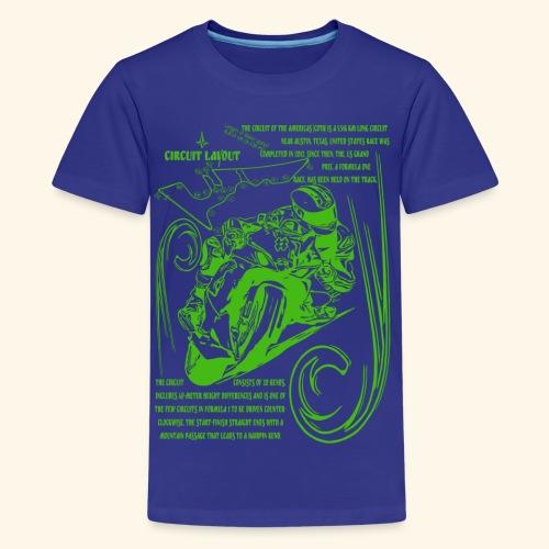 Rennmotorad USA Rennstrecke - Teenager Premium T-Shirt
