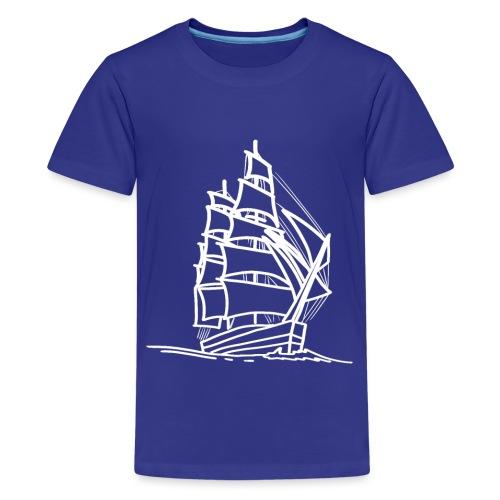 Segelschiff Illustration Meer Schiff Bootsfahrt - Teenager Premium T-Shirt