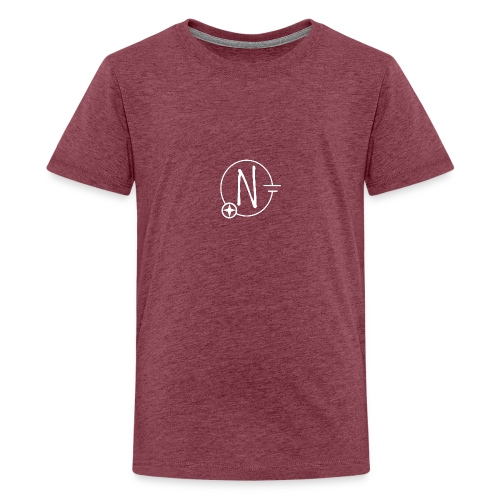 Nerdpol Logo White - Teenager Premium T-Shirt