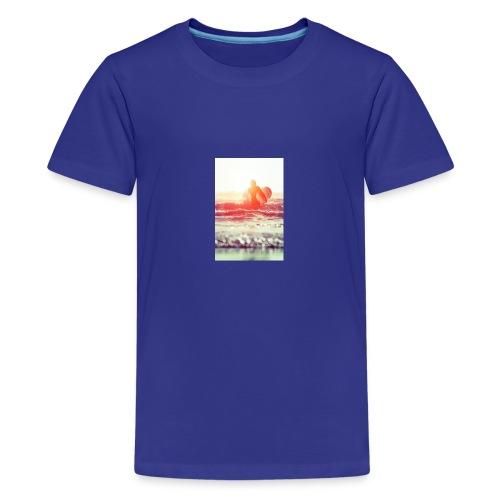 sunset surf jpg - Teenage Premium T-Shirt