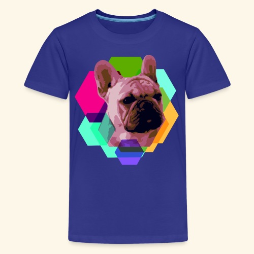 French Bulldog head - T-shirt Premium Ado