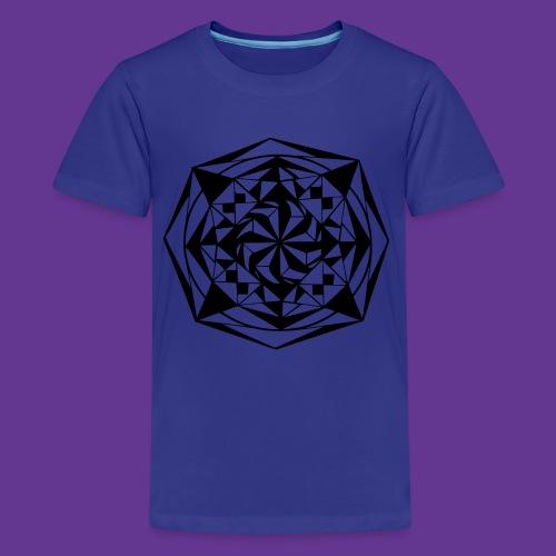 Geometrie Mandala Muster - Teenager Premium T-Shirt