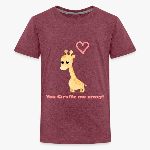 Giraffe Me Crazy - Teenager premium T-shirt