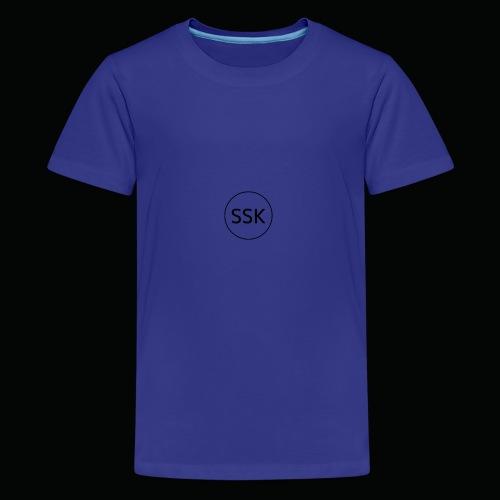 Salangen Skolekantine logo - Premium T-skjorte for tenåringer