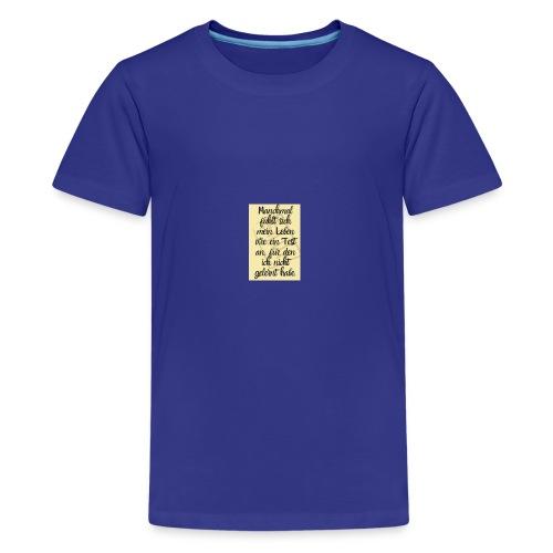 Das Leben ist ein Test - Teenager Premium T-Shirt