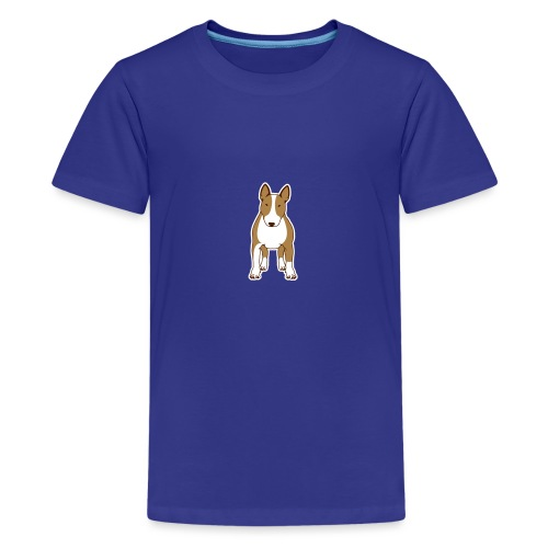 BULLTERRIER FRONT colored - Teenager Premium T-Shirt