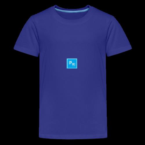 PW - Political Wear logo - Premium-T-shirt tonåring