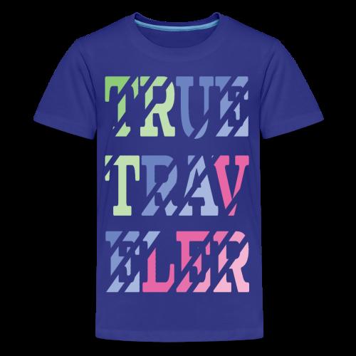TrueTraveler - Teinien premium t-paita