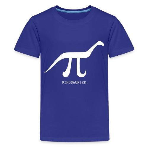 funny nerd geek, pi day, pi, Pinosaur - Teenage Premium T-Shirt