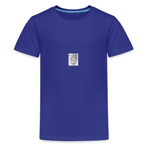 lion sketched png - Teenage Premium T-Shirt
