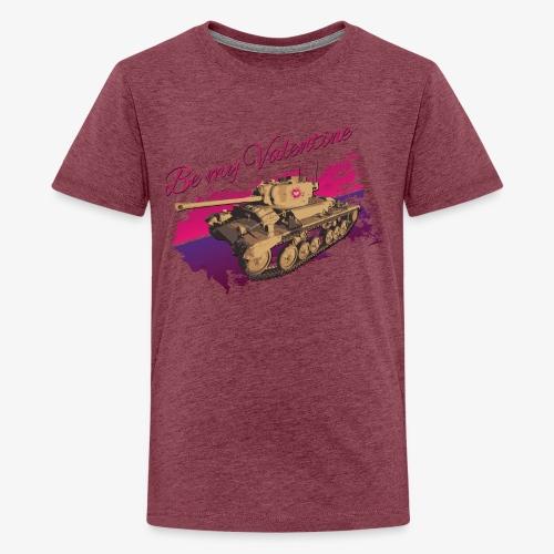 Be my Valentine Tank - Teenager Premium T-Shirt