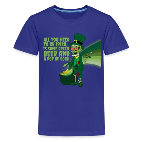 Irish man - Teenage Premium T-Shirt