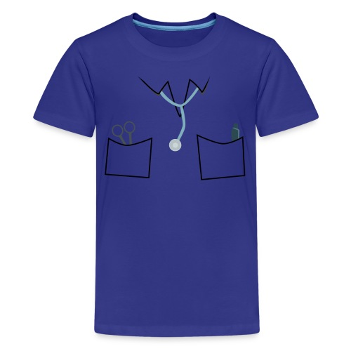 Scrubs tee for doctor and nurse costume - Teenage Premium T-Shirt
