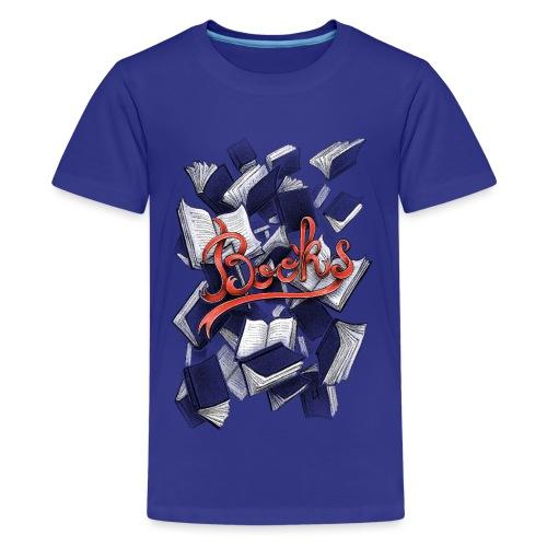 Books - Teenage Premium T-Shirt