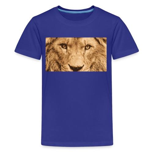 Lion, Löwe, König - Teenager Premium T-Shirt