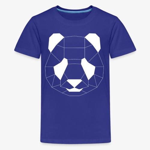 Panda Geometrisch weiss - Teenager Premium T-Shirt