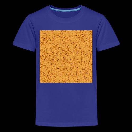 chicken nuggets - Premium-T-shirt tonåring