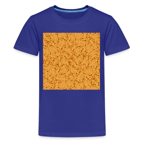 chicken nuggets - Premium-T-shirt tonåring