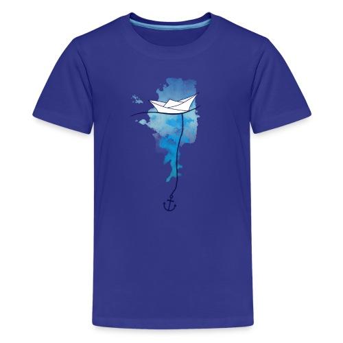 Papierschiff - Teenager Premium T-Shirt