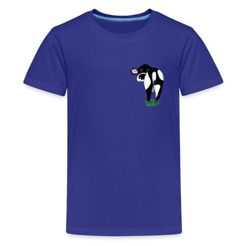 Quirky Cows Rear view - Teenage Premium T-Shirt