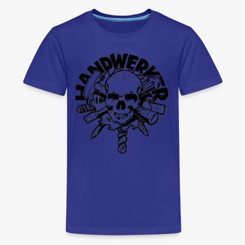 Handwerker Skull'n'Tools - Teenager Premium T-Shirt